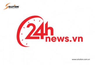 Thiết kế logo trang tin tức 24h.news.vn