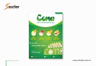 Thiết kế poster, tờ rơi giới thiệu sản phẩm mới sữa & đồ uống CONA