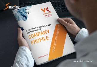 Thiết kế profile công ty tư vấn đầu tư VK