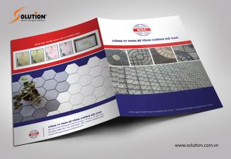 Thiết kế tờ gấp giới thiệu sản phẩm gạch, bê tông cường độ cao HSC