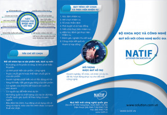 Thiết kế tờ gấp Quỹ đổi mới công nghệ quốc gia NATIF
