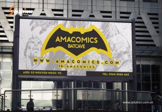 Thiết kế biển quảng cáo cửa hàng AMACOMICS The Batcave đầu tiên tại Việt Nam.