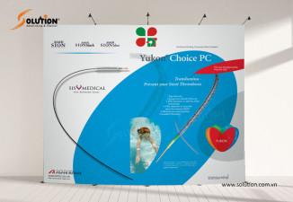 Thiết kế backdrop sân khấu sự kiện ngành y tế công ty thiết bị Đức Tín