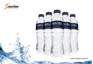 Thiết kế bao bì chai nước uống tinh khiết NATUZA