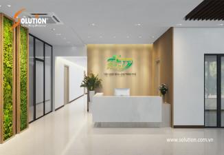 Thiết kế sảnh công ty bất động sản Phong Phú Hà Nội Green Pearl