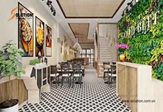 Thiết kế nhà hàng, quán ăn phong cách đương đại GOOD BEEF Restaurant Bắc Giang