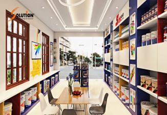 Thiết kế cửa hàng kinh doanh sơn Ngọc Vương Hải Phòng PPG