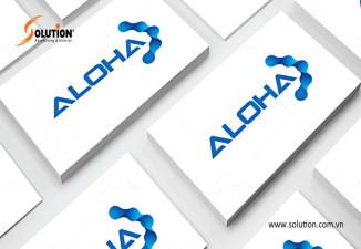 Thiết kế logo công ty công nghệ ALOHA Hà Tĩnh