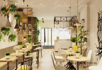Thiết kế nội thất quán trà sữa, cafe hiện đại trẻ trung Quốc Trà Bắc Giang