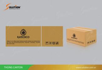 Thiết kế thùng carton đựng sản phẩm nông nghiệp Ratechco