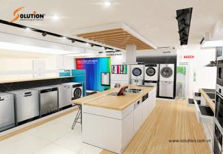 Thiết kế nội thất showroom thiết bị điện gia dụng HMH Hà Nội
