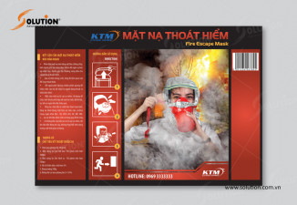 Thiết kế tem nhãn sản phẩm mặt nạ chống độc thoát hiểm KTM