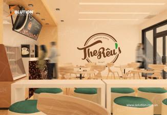 Thiết kế logo quán cà phê The Rêu tại Hồ Chí Minh