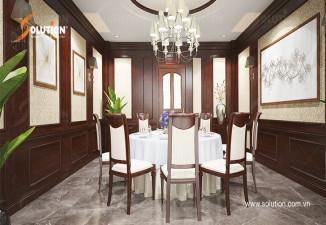 Thiết kế phòng ăn VIP nhà hàng đẹp tại Bắc Giang