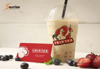 Thiết kế logo quán trà sữa kết hợp fast food TRIP TEA