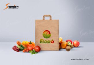 Thiết kế túi giấy đựng thực phẩm sạch FRECO