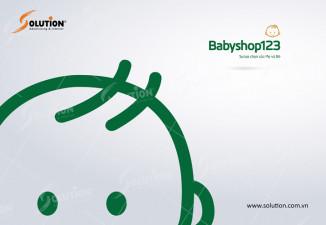 Logo và slogan hệ thống siêu thị mẹ và bé Babyshop123