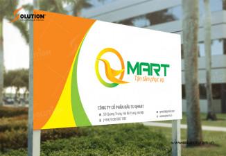 Thiết kế biển quảng cáo siêu thị Qmart