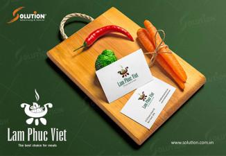Thiết kế logo công ty suất ăn công nghiệp Lâm Phúc Việt