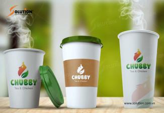 Mẫu logo quán trà sữa và đồ ăn nhanh Chubby Tea & Chicken