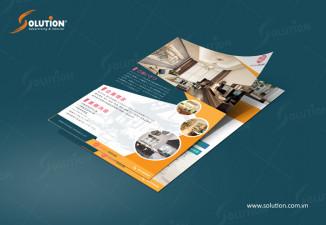 Thiết kế tờ rơi flyer công ty bất động sản Sakura Housing