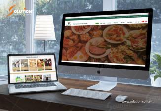 Mẫu website đẹp công ty suất ăn công nghiệp Lâm Phúc Việt