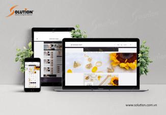 Thiết kế website bán đồ trang sức, vàng bạc Văn Ngân