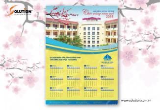 Thiết kế lịch Tết trường Đại Học Hạ Long Quảng Ninh