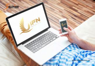 Thiết kế logo công ty xuất khẩu lao động, đào tạo nhật ngữ IFN
