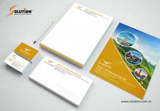 Bộ nhận diện thương hiệu công ty du lịch đẹp Vạn Vân