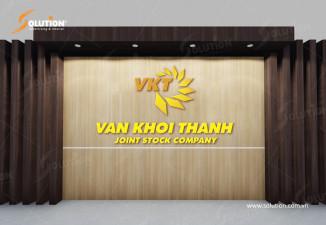 Thiết kế biển mặt tiền công ty năng lượng Vạn Khởi Thành VKT