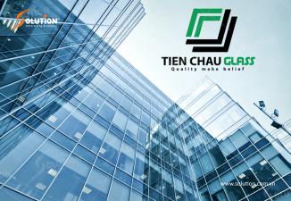 Thiết kế logo công ty kính Tiền Châu Glass Thái Bình
