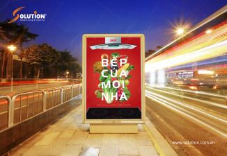 Thiết kế poster, biển quảng cáo ngoài trời công ty thiết bị bếp Lorca