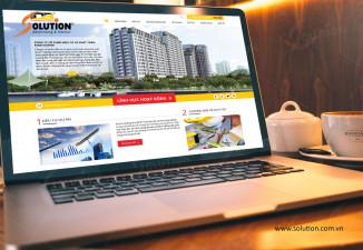 Mẫu website công ty ấn tượng IDB