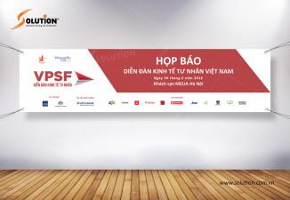 Thiết kế banner, standee sự kiện họp báo chuyên nghiệp VPSF