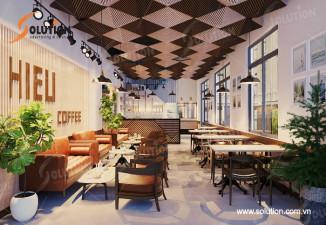 HIEU CAFE–THIẾT KẾ NỘI THẤT CAFE MANG HƠI HƯỚNG ĐƯƠNG ĐẠI