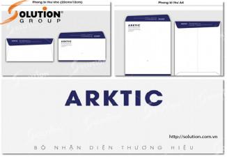 Thiết kế bộ nhận diện thương hiệu công ty Arktic sang trọng và đẹp mắt