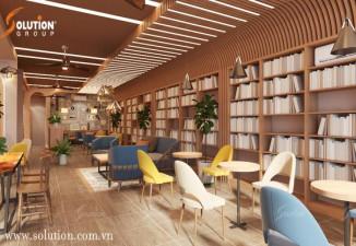 THIẾT KẾ NỘI THẤT MÔ HÌNH CAFÉ SÁCH – KHÔNG GIAN XANHLORD COFFE & TEA