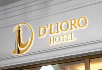 THIẾT KẾ LOGO VÀ BỘ NHẬN DIỆN THƯƠNG HIỆU CHO D'LIORO HOTEL