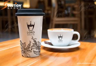 THIẾT KẾ LOGO QUÁN CAFE LORD COFFEE & TEA
