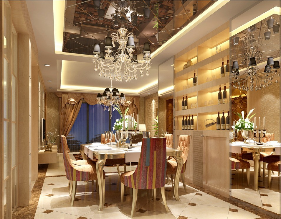 mẫu nhà hàng hiện đại, nội thất phong cách châu Âu