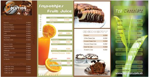 Mẫu menu trong bộ nhận diện thương hiệu quán kem YoCreamie