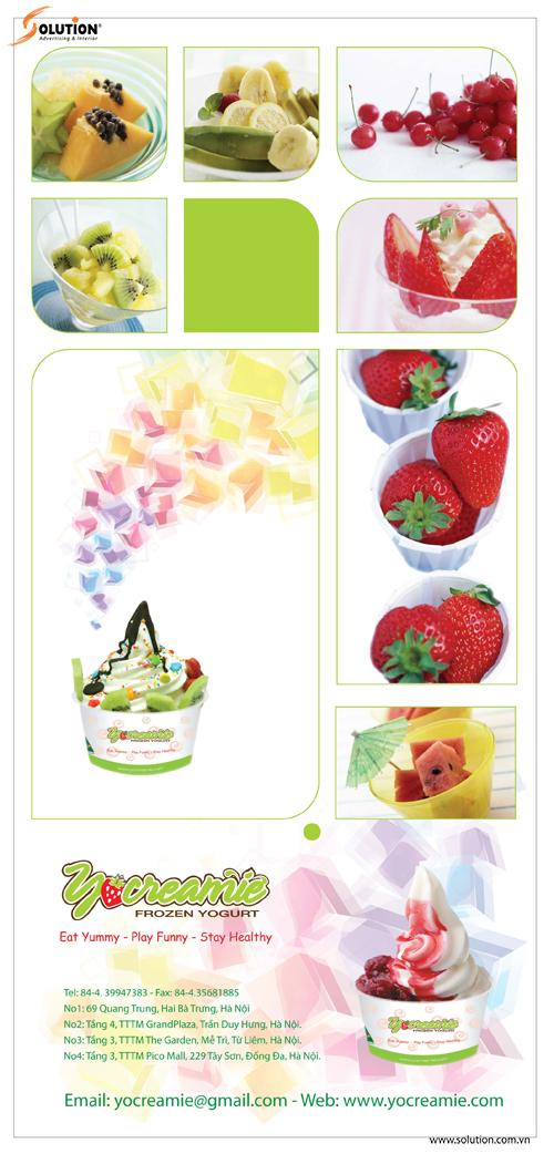 Thiết kế standee quảng cáo quán kem YoCreamie