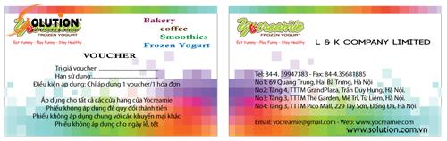 Thiết kế voucher nhận diện thương hiệu quán kem YoCreamie