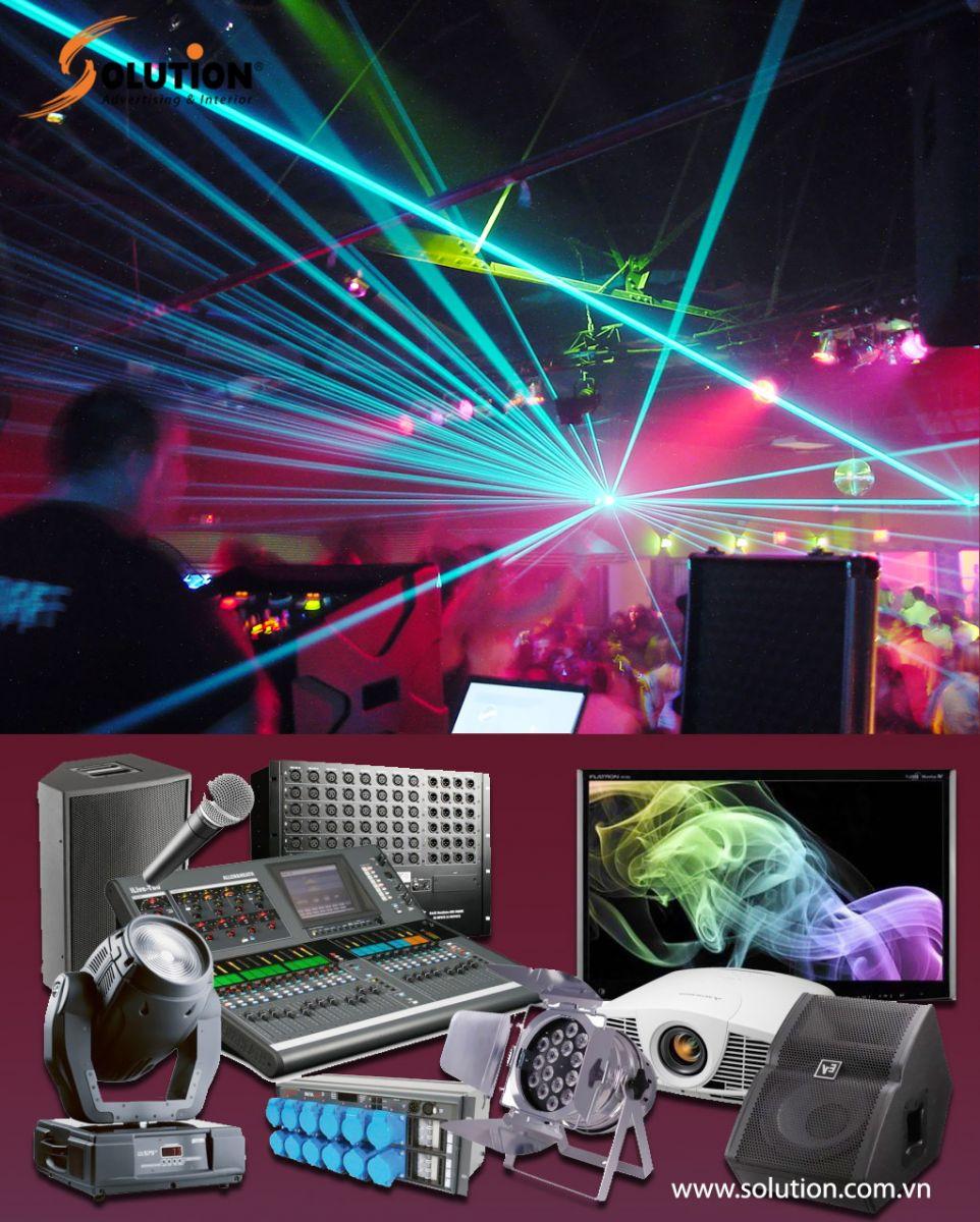 Công ty Solution cung cấp dịch vụ cho thuê âm thanh ánh sáng chuyên nghiệp giá rẻ