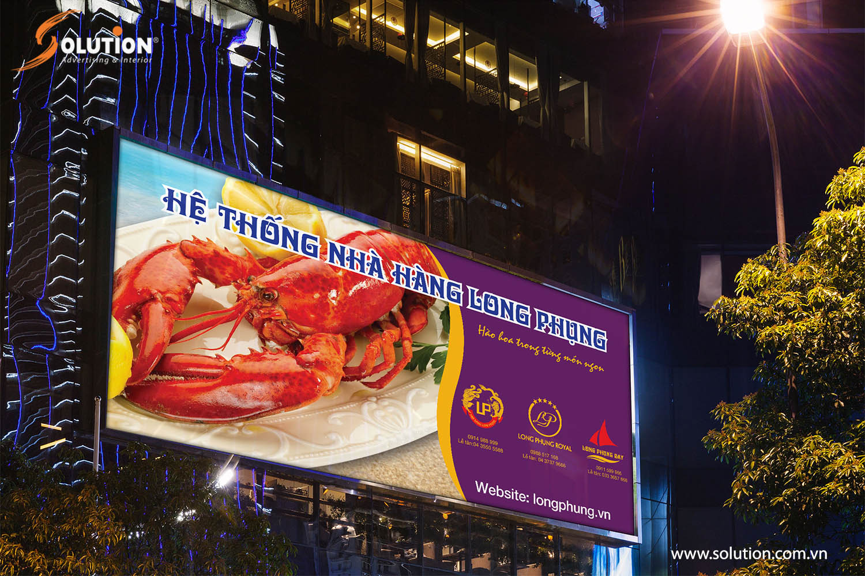 Mẫu thiết kế biển quảng cáo Nhà hàng Long Phụng