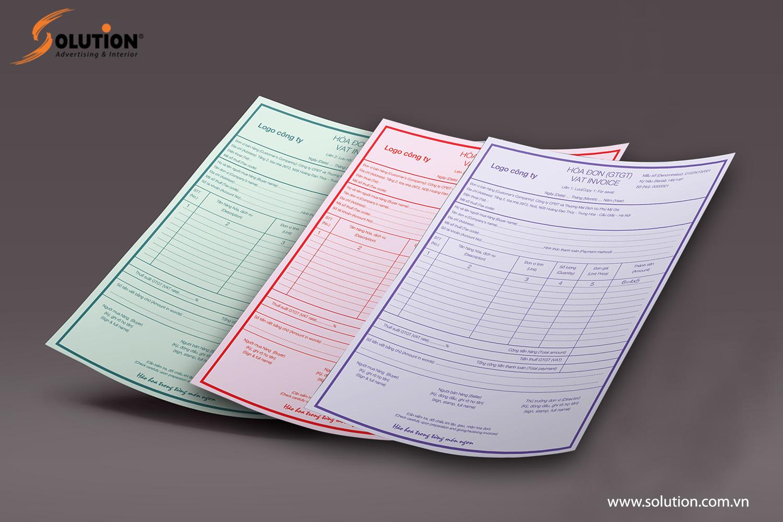 Mẫu hóa đơn trong thiết kế bộ nhận diện thương hiệu Nhà hàng Long Phụng