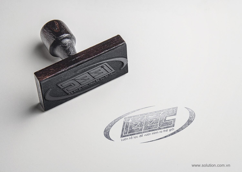 Mẫu thiết kế con dấu Công ty IEEC