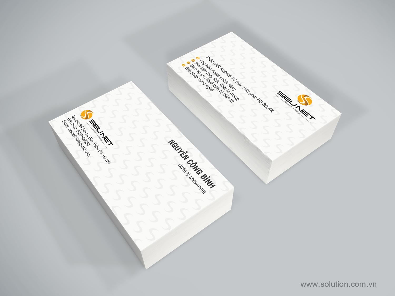 Mẫu thẻ name-card Công ty SIÊU NET
