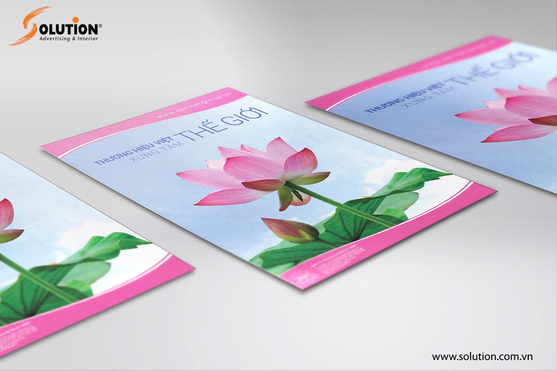 Mẫu thiết kế poster quảng cáo trong bộ nhận diện thương hiệu Công ty Sen Việt Group